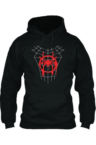 Miles Morales Spider-Man: Into the Spider-Verse Spider-Man: A New Universe Hoodie Pullover mit Kaputze Langarm