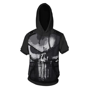 The Punisher Staffel 2 Frank Castle Pete Castiglione Tee Top T-Shirt Oberteil Rundhals mit Kaputze Hoodie Erwachsene