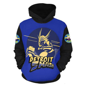 Boku no Hero Academia My Hero Academia All Might Hoodie Pullover mit Kaputze Pulli Hooded DETROIT SMASH