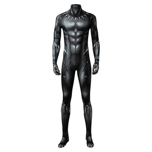 Marvel 2018 Black Panther T'Challa Junpsuit Full Set Cosplay Kostüm