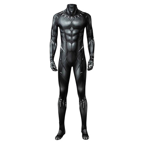 Marvel 2018 Black Panther T'Challa Junpsuit Full Set Cosplay Kostüm - cosplaycartde