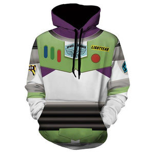 Toy Story 4 A Toy Story: Alles hört auf kein Kommando Buzz Hoodie Kaputzpullover Pulli Hooded