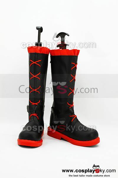 RWBY Rot Anhänger Ruby Cosplay Stiefel Schuhe