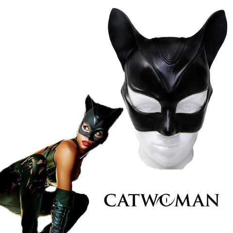 Catwoman Maske Batman Cosplay Maske Latex Helm für Erwachsene Halloween Requisite
