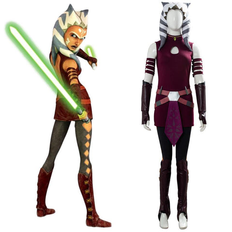 Cosplay Star Wars: The Clone Wars Ahsoka Tano Kostüm