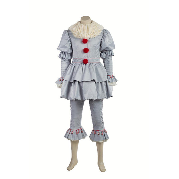 2017 IT Pennywise Kostüm The Clown Outfit Cosplay Kostüm Horror Film - cosplaycartde