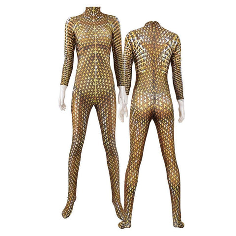 Wonder Woman 1984 Cosplay Kostüm Gold Jumpsuit Halloween Kostüm - cosplaycartde