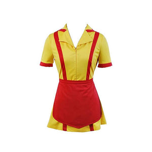 2 Broke Girls Max Caroline Kellnerinnen Uniform Kleid Cosplay Kostüm Karnival für Party Mottoparty - cosplaycartde