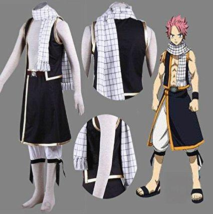 Fairy Tail Etherious Natsu Dragneel Schal Cosplay Requisite Schal Weiß - cosplaycartde