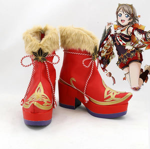 Love Live! Sunshine!! Aqours Fall Leaves Ver. Stiefel Cosplay Schuhe - cosplaycartde
