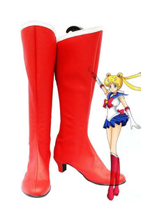 Sailor Moon Usagi Tsukino Cosplay Schuhe Stiefel Rot Version B