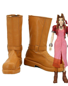 Final Fantasy VII 7 Aerith Aeris Gainsborough Stiefel Cosplay Schuhe Version A