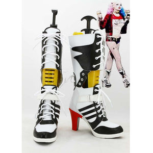 Batman Suicide Squad Harley Quinn Stiefel Cosplay Schuhe - cosplaycartde
