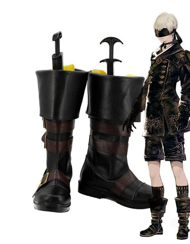 NieR: Automata 9S YoRHa No. 9 Type S Scanner Cosplay Schuhe Stiefel Boots - cosplaycartde