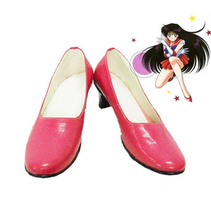 Sailor Moon Rei Hino Cosplay Schuhe Rot