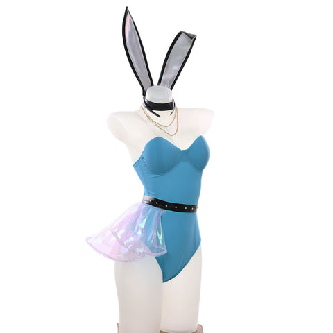 League of Legends LOL KDA Seraphine Cosplay Kostüm Bunny Girl Halloween Karneval Jumpsuit
