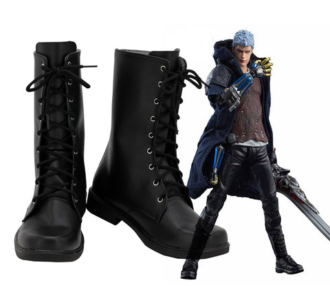DMC5 Devil May Cry 5 Devil May Cry V Nero Stiefel Cosplay Schuhe - cosplaycartde
