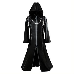 Organization XIII Kingdom Hearts II Cosplay Pleather Mantel Kostüm Neue Version