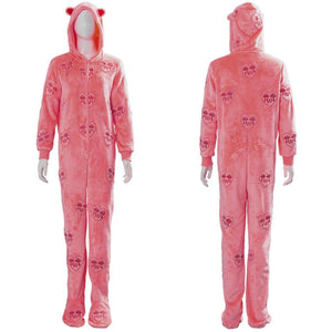Birds of Prey: The Emancipation of Harley Quinn Cosplay Hooded Pyjama Kostüm Rosa Schlafanzug