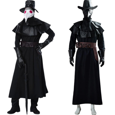 Steampunk Gotik Plague Doctor Pest Doktor Pestartz Cosplay Halloween Kostüm Mantel