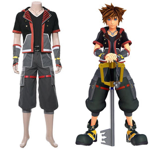 Sora Kingdom Hearts III 3  Cosplay Kostüm Uniform Outfit Suit