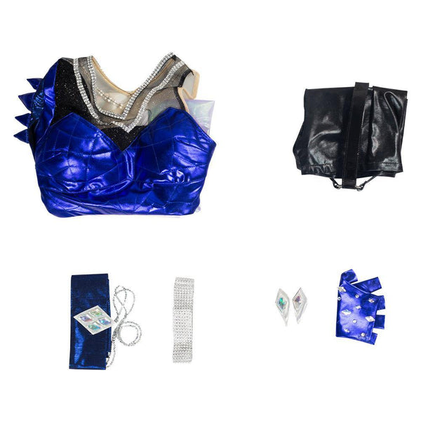 League of Legends LOL KDA Ahri Cosplay Kostüm Damen Kleid Outfits Halloween Karneval Kostüm