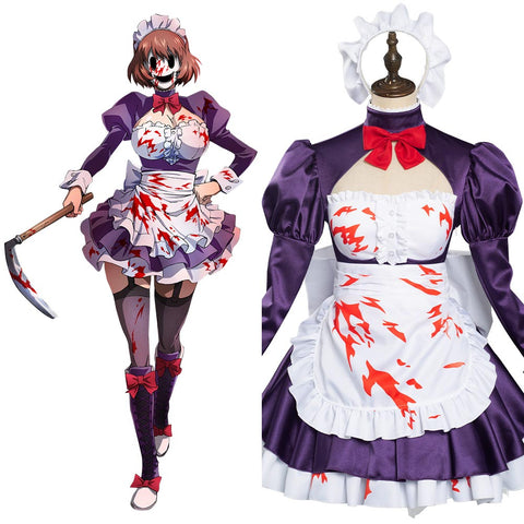 High-Rise Invasion Maid-fuku Kamen Cosplay Kostüm Dienstmädchen Kleid Halloween Karneval Outfits