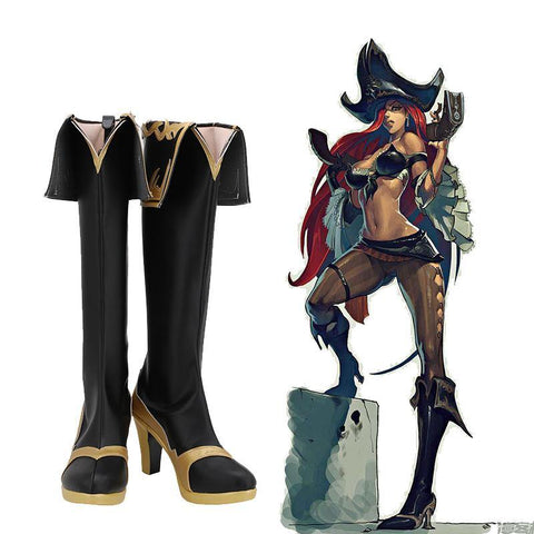LoL League of Legends Die Kopfgeldjägerin Miss Fortune Stiefel Cosplay Schuhe