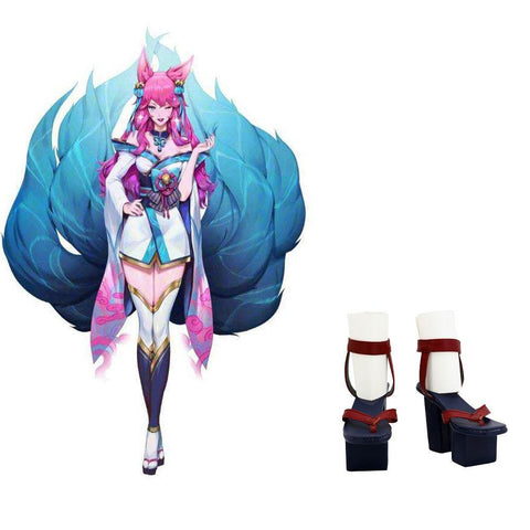 LOL Ahri Spirit Blossom League of Legends Ahri Schuhe Cosplay Schuhe