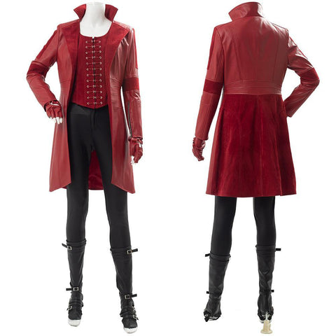 Captain America 3 Civil War Scarlet Witch Wanda Outfit Cosplay Kostüm - cosplaycartde