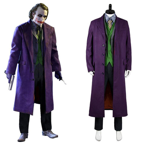Batman Dark Knight Joker 6 pcs Set * Mantel Cosplay Kostüm Gabardine