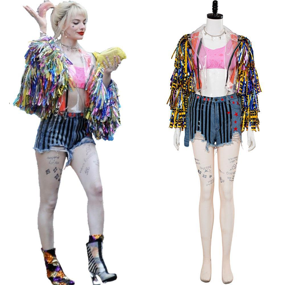 Birds of Prey Superheld And the Fantabulous Emancipation of One Dr. Harleen Quinzel Harley Quinn Cheerleader Cosplay Kostüm