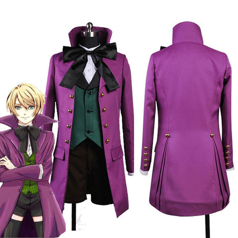 Black Butler 2 II Alois Trancy Cosplay Kostüm Version B Lila