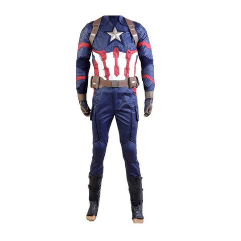 Captain America 3: Civil War Steve Rogers Uniform Cosplay Kostüm - cosplaycartde