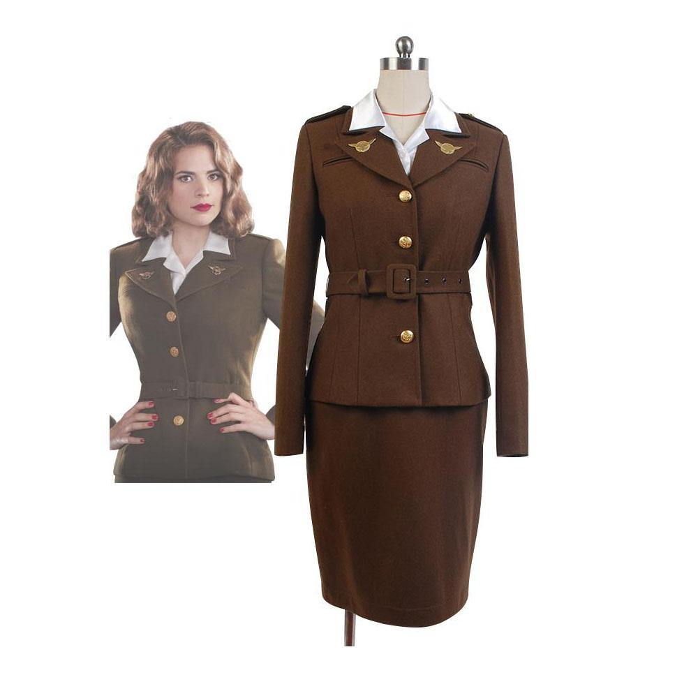 Captain America: The First Avenger Agent Peggy Carter Uniform Cosplay Kostüm - cosplaycartde