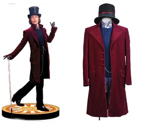 Charlie and the Chocolate Factory Willy Wonka Cosplay Kostüm Set Lila