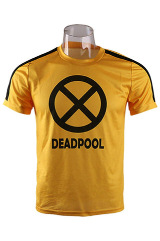 Deadpool 2 T-Shirt cosplay Kostüm Wade Wilson Merc With A Mouth T-Shirt - cosplaycartde