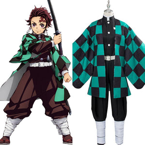 Demon Slayer: Kamado Tanjirou Kimetsu no Yaiba Cosplay Kostüm