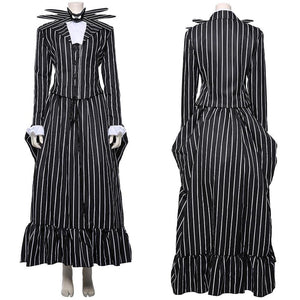 Der Albtraum vor Weihnachten The Nightmare Before Christmas Jack Skellington Damen Kleid Cosplay Kostüm für Damen - cosplaycartde