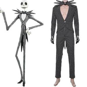 Der Albtraum vor Weihnachten The Nightmare Before Christmas Jack Skellington Kostüm Cosplay Kostüm Weihnachtskleid - cosplaycartde