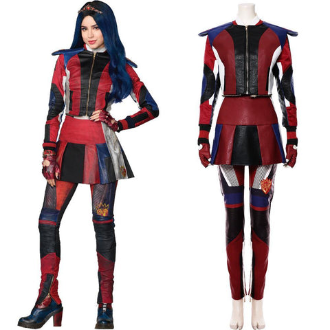 Descendants 3 Evie Cosplay Kostüm für Damen/Kinder