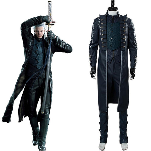 Devil May Cry V DMC 5 Vergil Mantel Cosplay Kostüm NEU Version - cosplaycartde