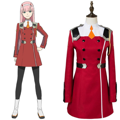 DitF Darling in the Franxx Code 002 Zero Two Uniform Cosplay Kostüm - cosplaycartde