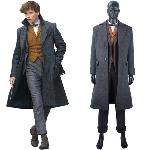 Fantastic Beasts The Crimes of Grindelwald Phantastische Tierwesen: Grindelwalds Newt Scamande Cosplay Kostüm Mantel - cosplaycartde