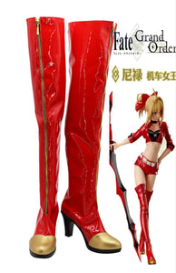 Fate/Grand Order Nero Saber Stiefel Cosplay Schuhe Stiefel Rot