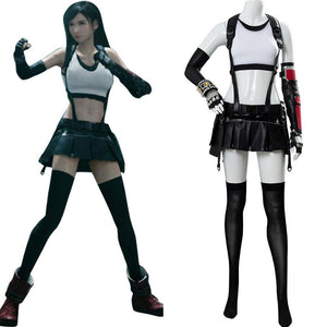 Final Fantasy VII FF7 Remake Tifa Lockhart Cosplay Kostüm Set