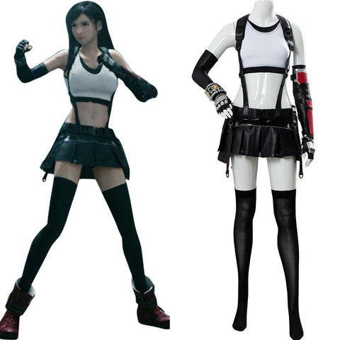 Final Fantasy VII FF7 Remake Tifa Lockhart Cosplay Kostüm Set - cosplaycartde