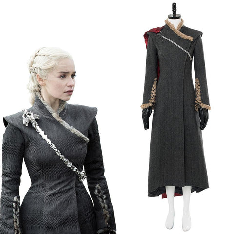 Game of Thrones Staffel 8 Daenerys Targaryen Kleid Cosplay Kostüm Ver. 3