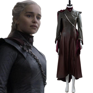 GoT 8 Game of Thrones Daenerys Targaryen Cosplay Kostüm Braun Version - cosplaycartde
