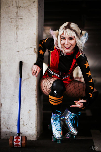 Birds of Prey: And the Fantabulous Emancipation of One Harley Quinn Jumpsuit Roller Derby Outfit Cosplay Kostüm - cosplaycartde